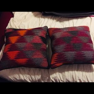 Pair of Pendleton Pillow Inserts (with pillows)